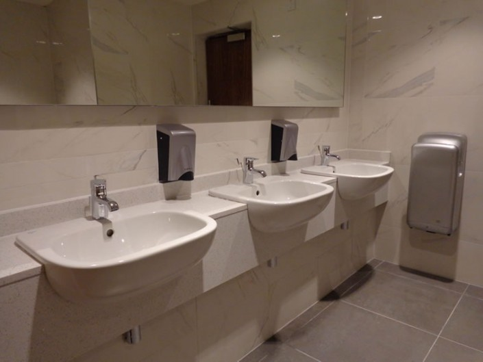 White Marble Bathroom Vanity Station
