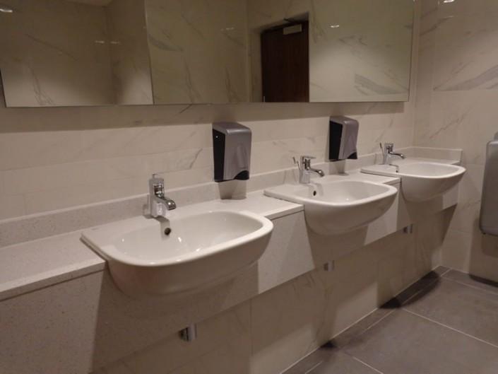 White Marble Bathroom Vanity Point
