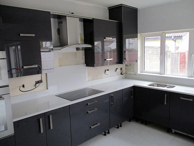 White Storm Kitchen Countertops